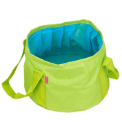 GoingMen 15L Collapsible Water Camp Bucket, Ultralight Folding Wash Basin Portable Camping Outdoor Water Storage Pouch for Hiking Fishing Picnic Travel