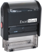 Self Inking Rubber Stamp with up To 4 Lines of Custom Text