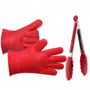 SANNYSIS Silicone Kitchen Cooking Silicone BBQ /Cooking Gloves Plus Silicone Brush Baking Tong Tool