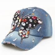 Baseball Cap,Neartime Butterfly Hip-Hop Caps Diamond Flat Snapback Hat