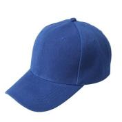 Hip Hop Hats,Neartime Solid Colour Adjustable Hat Baseball Cap . Blue)