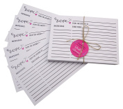 Darling Souvenir White Classic Recipe Cards Refill Kitchen Set Of 50 Cards
