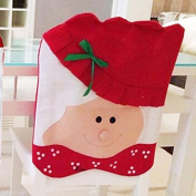 Yeah67886 Lovely Mrs Santa Claus Dining Room Christmas Chair Cover Christmas Decoration