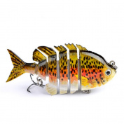 Isafish Swimbait Bionic Multi Jointed 6-Segement Pike Muskie Fishing Lure Swimbaits For Bass Crankbait with Hooks Minnow Hard Bait 8cm 15ml