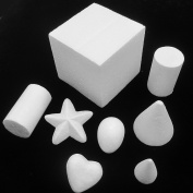 Dandan DIY 30pcs Smooth Foam Cube Heart Star Egg Cylinder Cone Shaped Foam Craft Making Foam Ball Home Wedding Decor Diy Supply