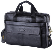 VIDENG POLO Top Leather Handmade Briefcase Shoulder Messenger Business Bag From Italy Design
