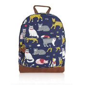 SALE SALE - New KIDS cath Kidston Childrens Designer Style Canvas MIX CAT Print Backpack Bag JC Kids 'Back to School' Collection