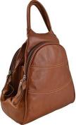 Gianni Conti Fine Italian Leather TAN OR BROWN Medium Shoulder Rucksack Backpack 584849