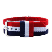 BSGSH Fashion Canvas 20mm Wrist Watch Band Strap with Stainless Steel Buckle - Choice of Colour