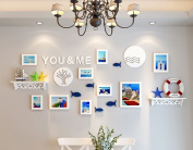 NAUY- Creative Photo Wall Decorative Frame Wall Frame Wall Combination Simple Modern Small Fresh Hanging Photo Wall