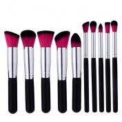 Baomabao 10PCS Make Up Brushes Foundation Concealer for Eyebrow Eyeliner Blush Cosmetic