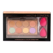 City Colour Collection Cream Correct & Conceal Palette with 2 Sponge
