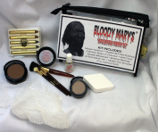Unwrapped Mummy Makeup Kit By Bloody Mary - Special Effects Set Ideal For Halloween Costumes - Face Powder, Crayons, Eye Shadow, 4 Brushes, Spirit Gum, Bandages & Sponge Included