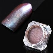 NICOLE DIARY 1g Chameleon Glitter Powder Green Purple Nail Art Chrome Pigment Tip Dust Decoration
