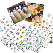 KADS 19pcs/set Transfer Nail Art Stickers Water Nail Art Decals For Nail Decoration Tools