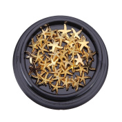 Alonea Hot Gold Starfish Metal Deco Charms Nail Art Decoration DIY