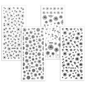 BMC By Bundle Monster 4 Sheet Rub On Nail Art Decal Sticker - Spring Florals