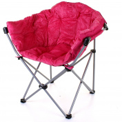 Marko Outdoor Deluxe Moon Chair Folding Camping Hiking Indoor Outdoor Garden Fishing Foldable