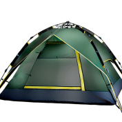 Automatic Folding Tents, Camping Outdoors 3 Double Double Camping Speed Open Rain Tent,MilitaryGreen