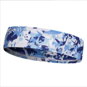 Hotour Camouflage Colour Sport Sweatbands Headband for Sports, Running, Soccer Games, Yoga