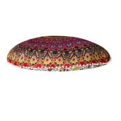 GBSELL 80*80cm Large Mandala Floor Pillows Round Bohemian Meditation Cushion Cover Ottoman Pouffe
