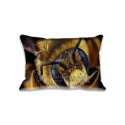50cm x 80cm Mining Bee Head Macro Pillowcases New Aeroplanes Home Decor Standard Pillow Cushion Covers With Zipper