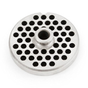 The Sausage Maker #10/12 Stainless Steel 0.6cm Grinder Plate with Hub