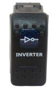"""SUNDELY® """"INVERTER"""" 12V 24V ON/OFF Rocker Switch with Blue LED Backlit Carling ARB Narva Style"""