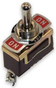 Boater Sports Toggle Switch On/Off/On Brass Md#