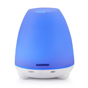 Rukerway Essential Oil Diffuser 100ml Cool Mist Aroma Humidifier for Aromatherapy LED Lights BPA Free