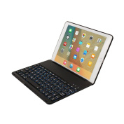 Keyboard Case iPad Pro 9.7,TechCode Smart 7 Colour Keyboard Case Stand Folio Backlit Light Colourful Bluetooth Keyboard Case With Executive Multi Function Case for iPad Pro 25cm