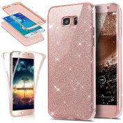Galaxy S6 Edge Plus Case, PHEZEN Front and Back 360 Full Body Protective Bling Glitter Sparkly Slim Thin TPU Rubber Soft Skin Silicone Protective Case Cover For Samsung Galaxy S6 Edge Plus