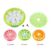 3PCS Pill Organiser,Pill Storage Case,7 Day Weekly Pill Box Outdoor Travelling Round Tablet,Fruit Shape