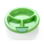 Baby Feeding Food Insulation Bowl,Warming Plate, Sage to Eat Training Suction Cup Bowl Unbreakable Dividing Plate Dish Plate,Green