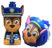 "Paw Patrol ""Chase"" 3D Puptastic Punch Scented 3 in 1 Body Wash, Shampoo & Conditioner! Plus Bonus Plush Chase Bath Scrubby!"