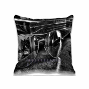 Square 41cm x 41cm Zippered Lens In Reflection Glasses Creative Pillowcases Digital Print Adults Kids Cushion Covers
