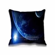 Square 41cm x 41cm Zippered Shine Earth Art Pillowcases Digital Print Adults Kids Cushion Covers