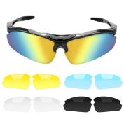 B.LeekS Safety Glasses, Cool Fashion Sports Style Polarised Sunglasses, UV400 Protection, Unbreakable Frame, Cycling Fishing Baseball Running Sun glasses