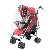 BoodTag Stroller Cover Baby Rain Cover Protection Waterproof Pushchairs and Carriers Transparent Folding Bug Cover