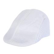 Messagee Unisex Flat Cap Hunting Hat Hollow Driving Hat Summer Ventilation Cap