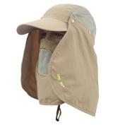 Messagee Quick-drying Outdoor Face Neck 360 Degree Sun Protection Hat Mesh Long Brim Fishing Hiking Beach Visor Anti UV Removable Sun Shield Cap UPF 50+