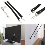 Pack of 2 TV Straps Furniture Anti-Tip Straps Flat Screen Heavy Duty Strap