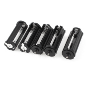 Gfortune 5PCS 3 x 1.5V AAA Series Connector Battery Case Holder Black Cylindrical for Flashlight Torch
