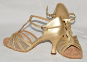 gold and mesh ladies ballroom latin dance shoes size 6 mandy