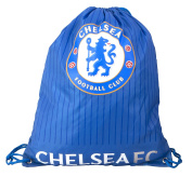 Chelsea FC Official Fade Football Crest Drawstring Sports/Gym Bag