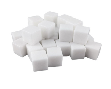 Honbay 30pcs DIY Blank White Acrylic Cube Dice for Board Games or Teaching