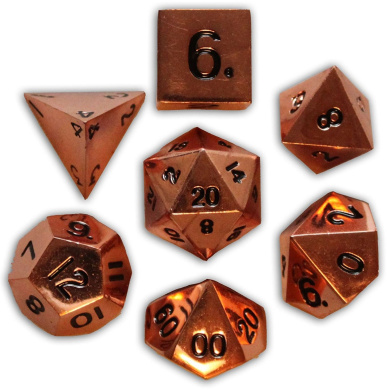 Norse Foundry 7PC RPG Metal Dice Set - Copper Still