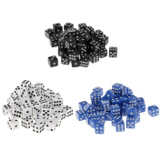 MonkeyJack 12mm 150 Pieces Opaque Six Sided Spot Dice Games D6 RPG Playing Toys Board Games