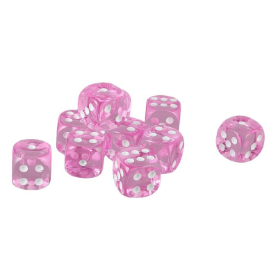 MonkeyJack Pack of 10 Pink Six Sided D6 Dice for Playing D & D Warhammer RPG Board Game Favours