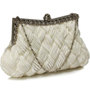 Womens Beautiful Sparkly Crystal Satin Evening Party Clutch Bag